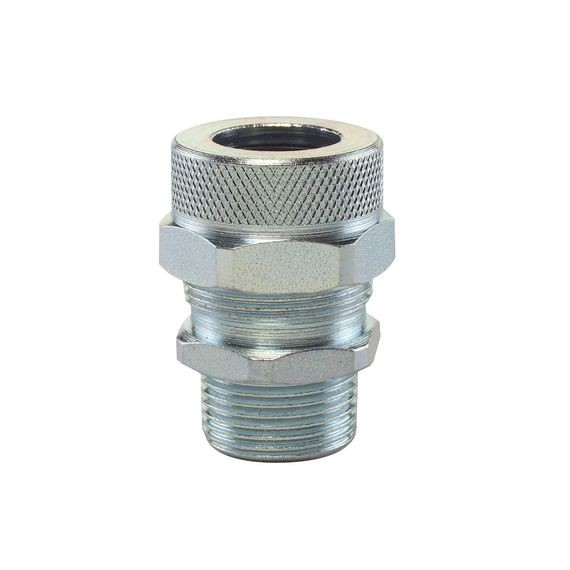 "Cord Connector, steel, 3/4"" NPT, cable range .562 - .625"