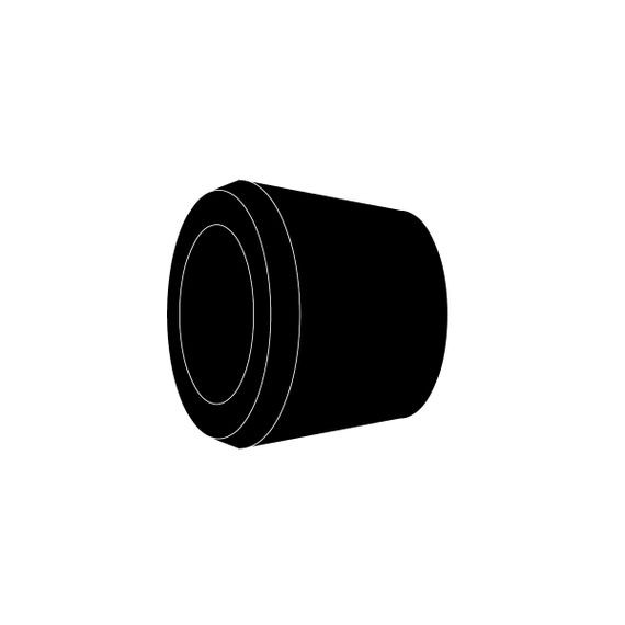 Bushing, Single Hole, neoprene, cable range .562 - .688, Form Sizes 2 and 3